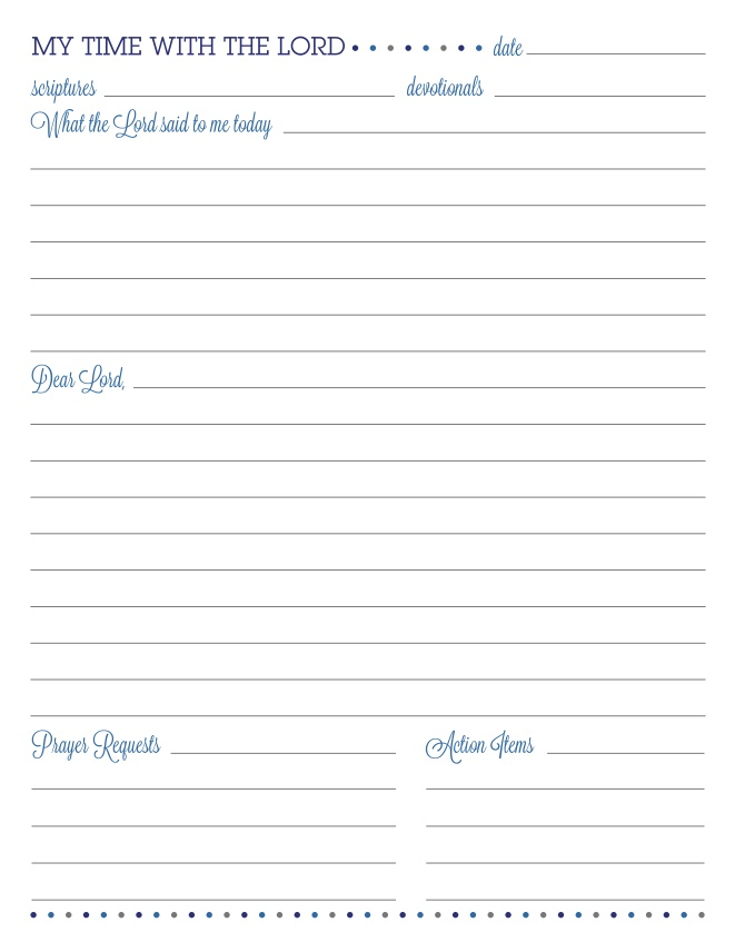 Free Printable Prayer Journal Sheets