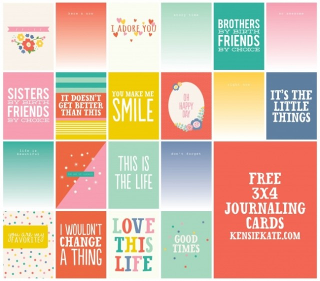 4 Images of Free Heart Printable Journal Cards