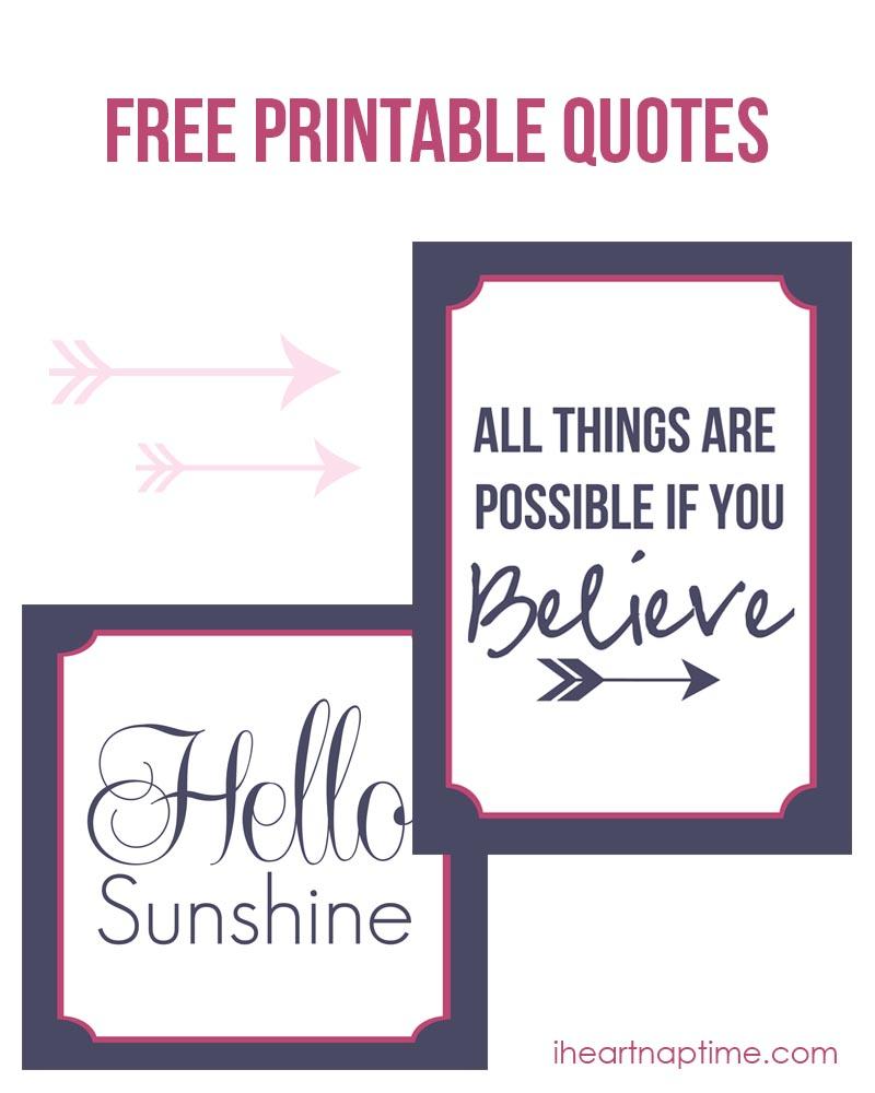 Free Printable Quote
