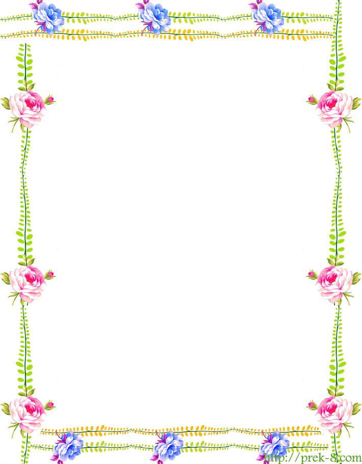 Best Images of Free Printable Spring Borders Flowers - Free ...