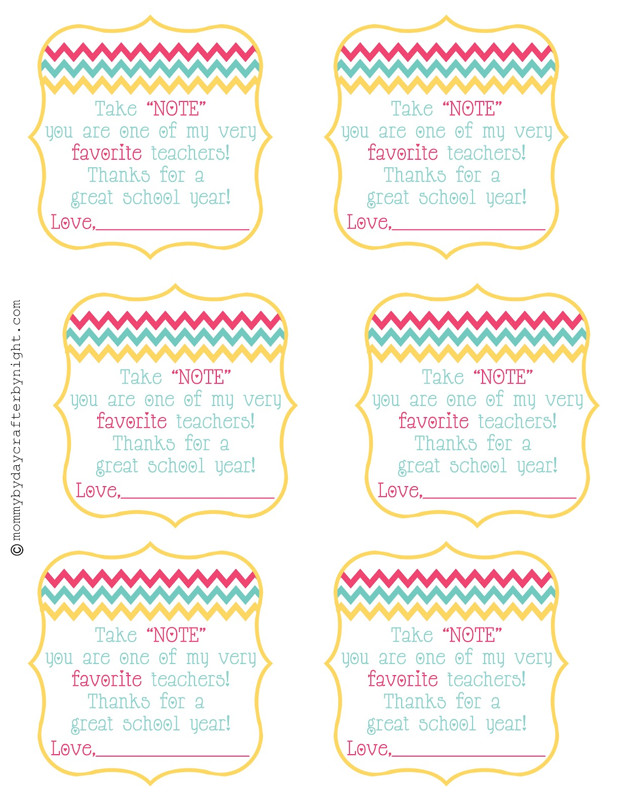 6 Images of Teacher Appreciation Printable Labels