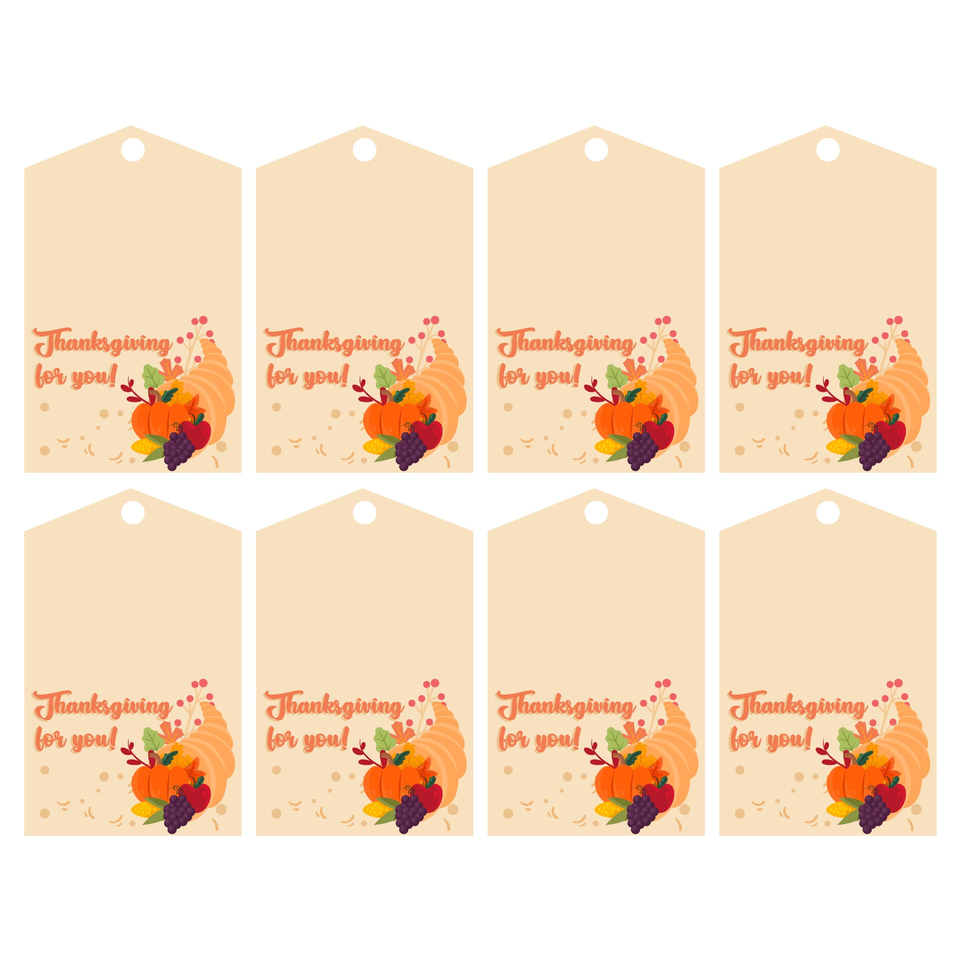 6 Images of Printable Thanksgiving Gift Tags