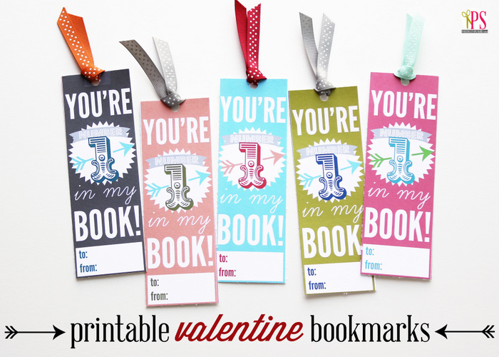 6 Images of Printable Valentine's Day Bookmarks