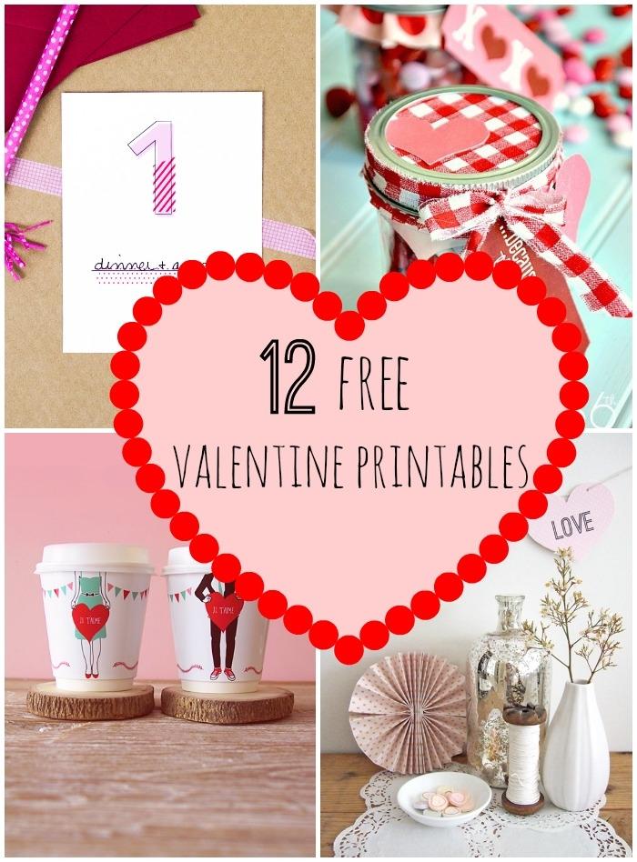 9 Images of Valentine Printables Menu Ideas