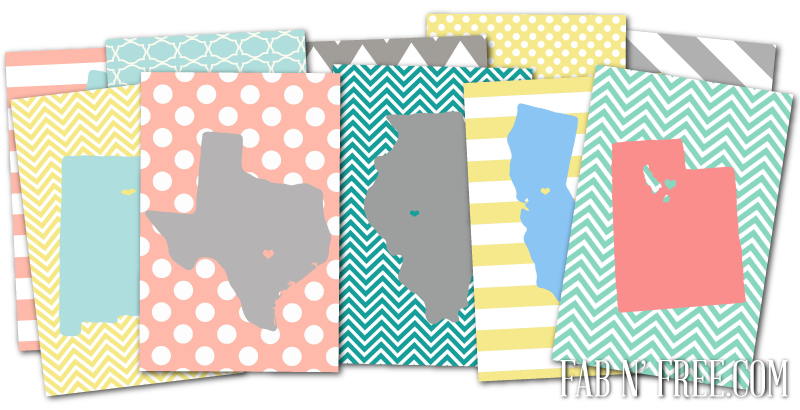 5 Images of Free State Printables