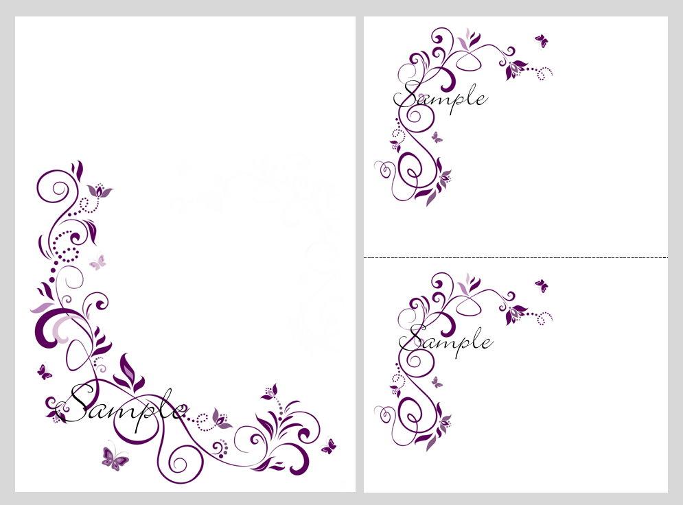 Free Printable Wedding Invitation Template Purple
