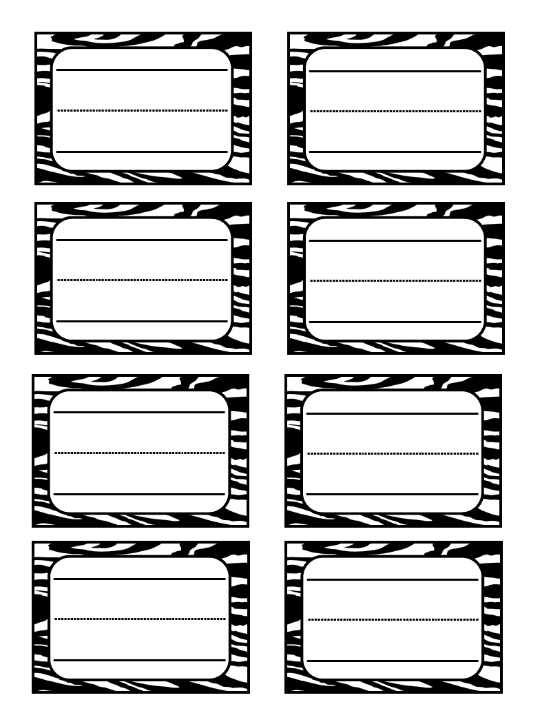 6 Best Images of Zebra Label Borders Free Printable ...