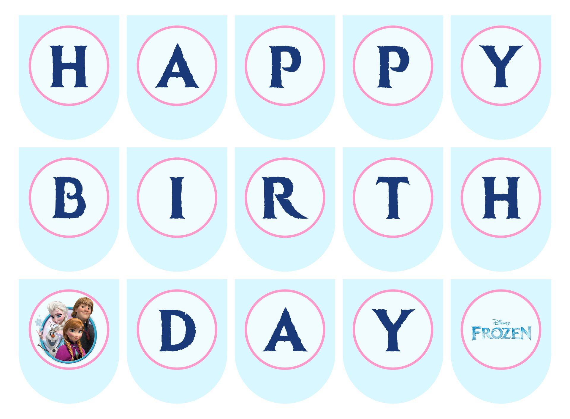 Frozen Birthday Banner Printable Free