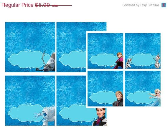 8 Images of Frozen Printable Food Cards