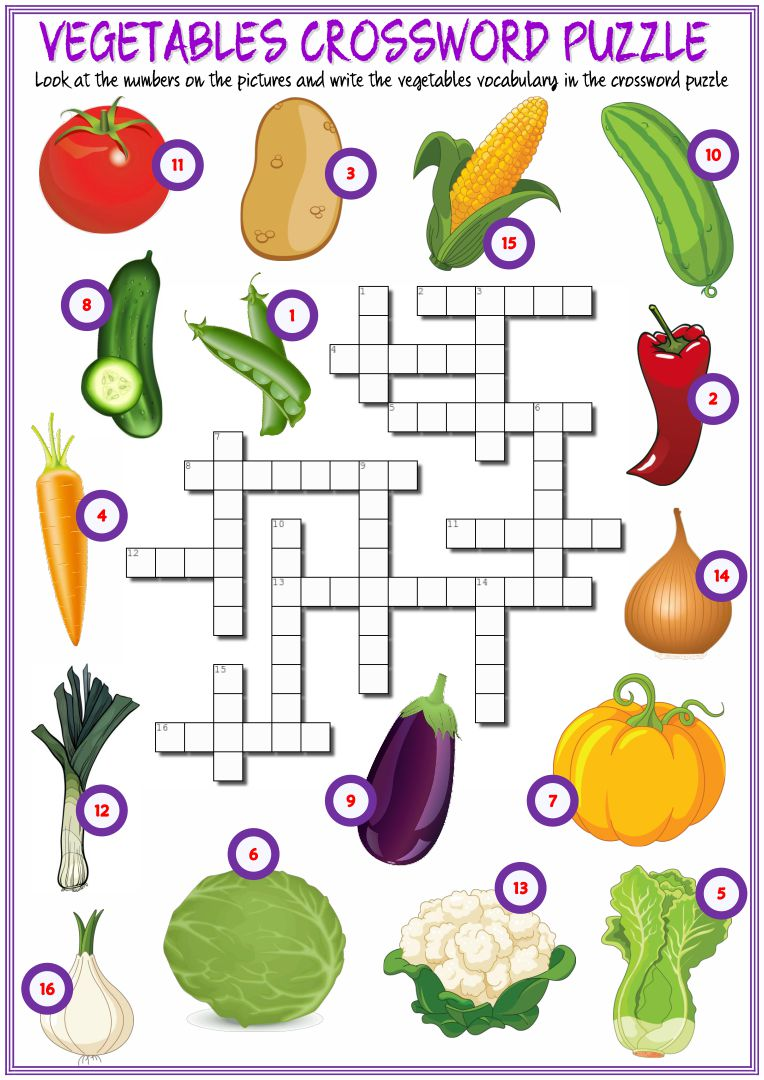 Fruit and Vegetable Worksheets