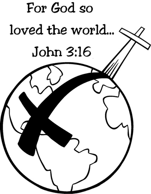 God Is Love John 3 16 Coloring Page