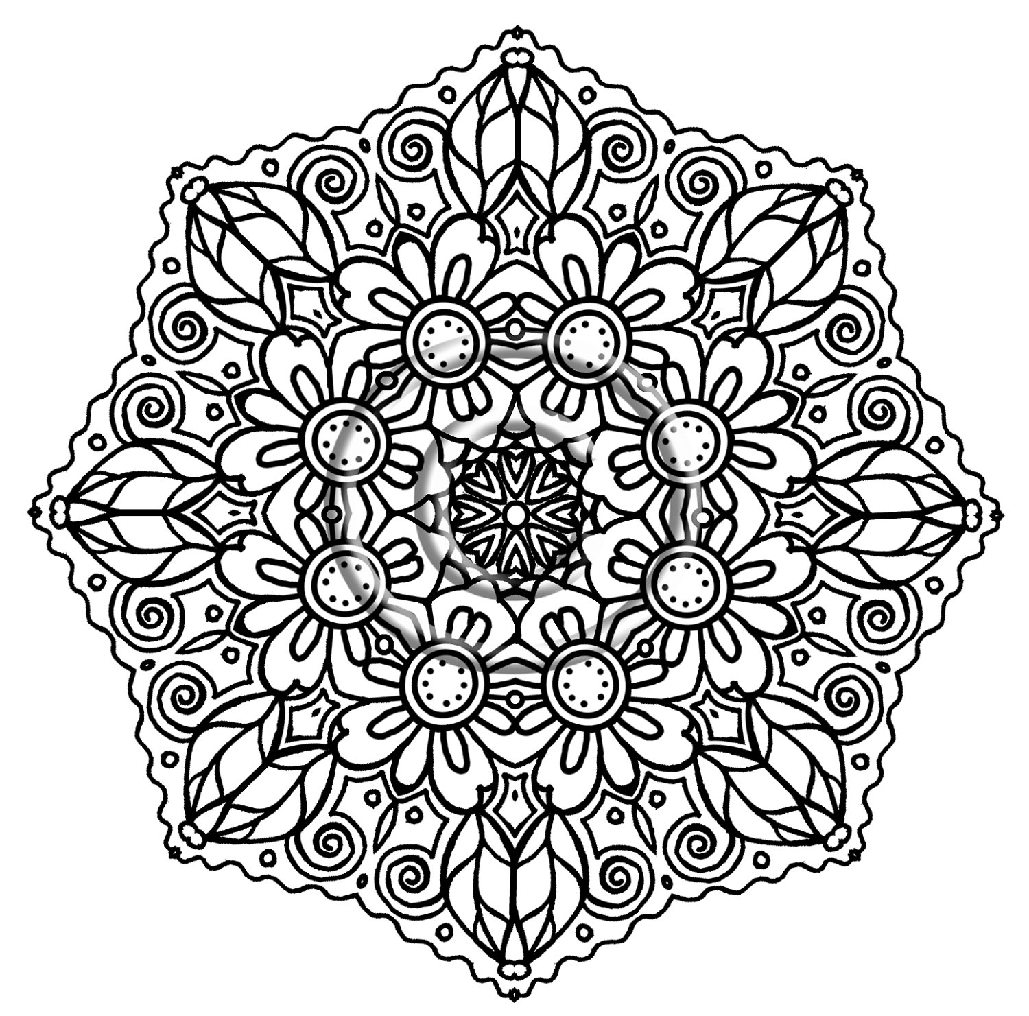 7 Images of Adult Intricate Coloring Pages Printable