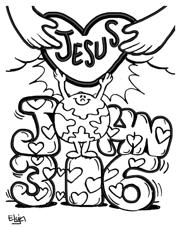 7 Best Images of John 3 16 Coloring Printables - John 3 16 ...