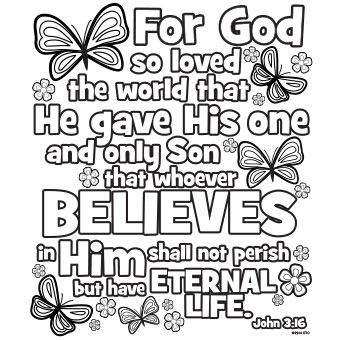 7 Images of John 3 16 Coloring Printables