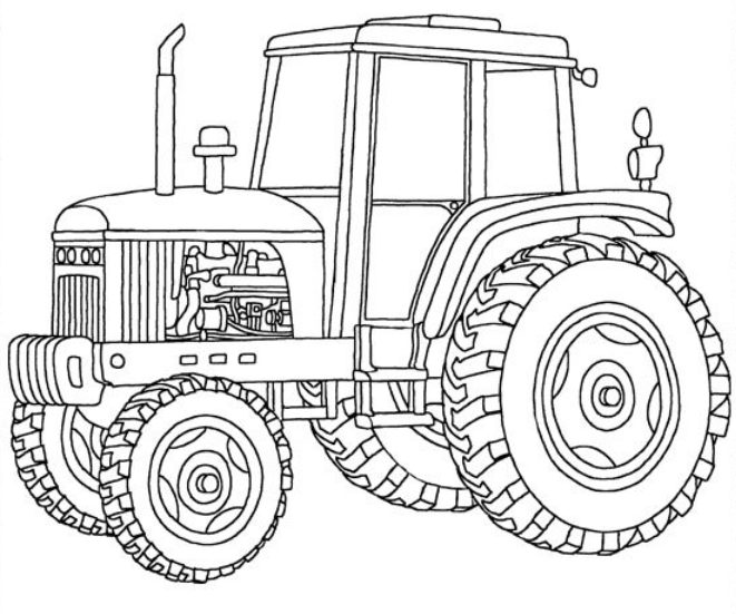 6 Images of John Deere Printable Coloring Pages