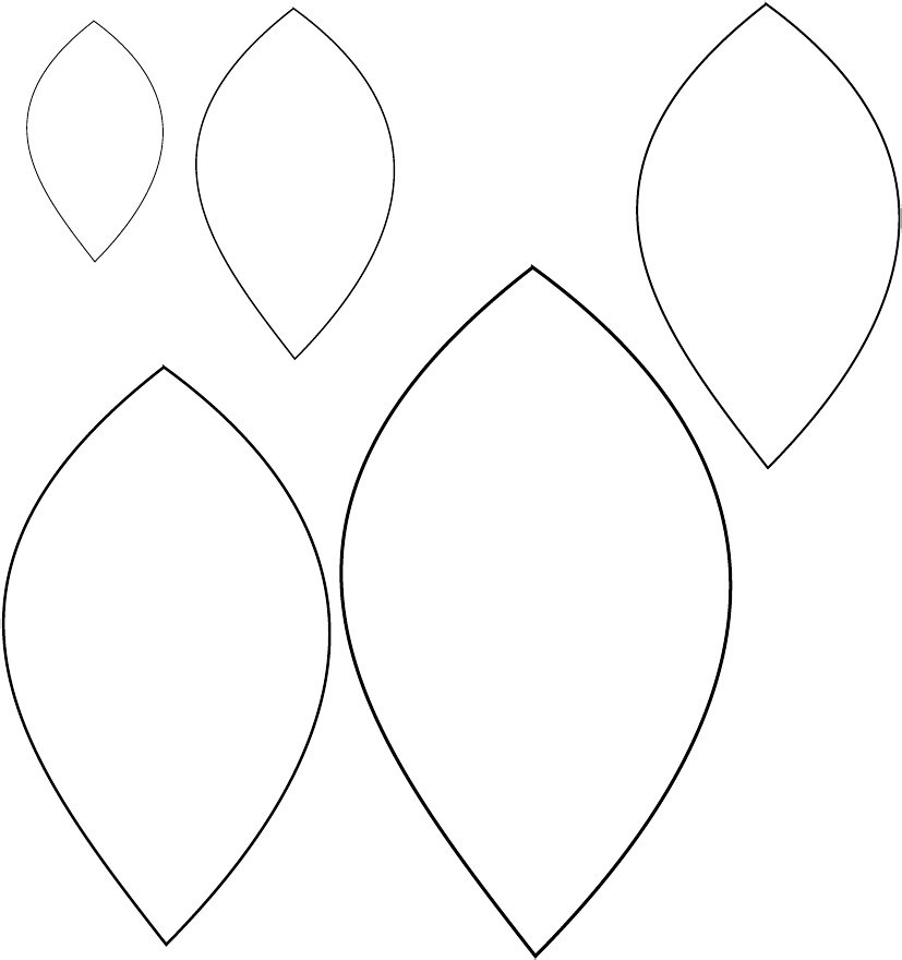 8 Images of Printable Flower Template Leaf