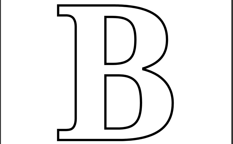 Letter B Coloring Pages Printable