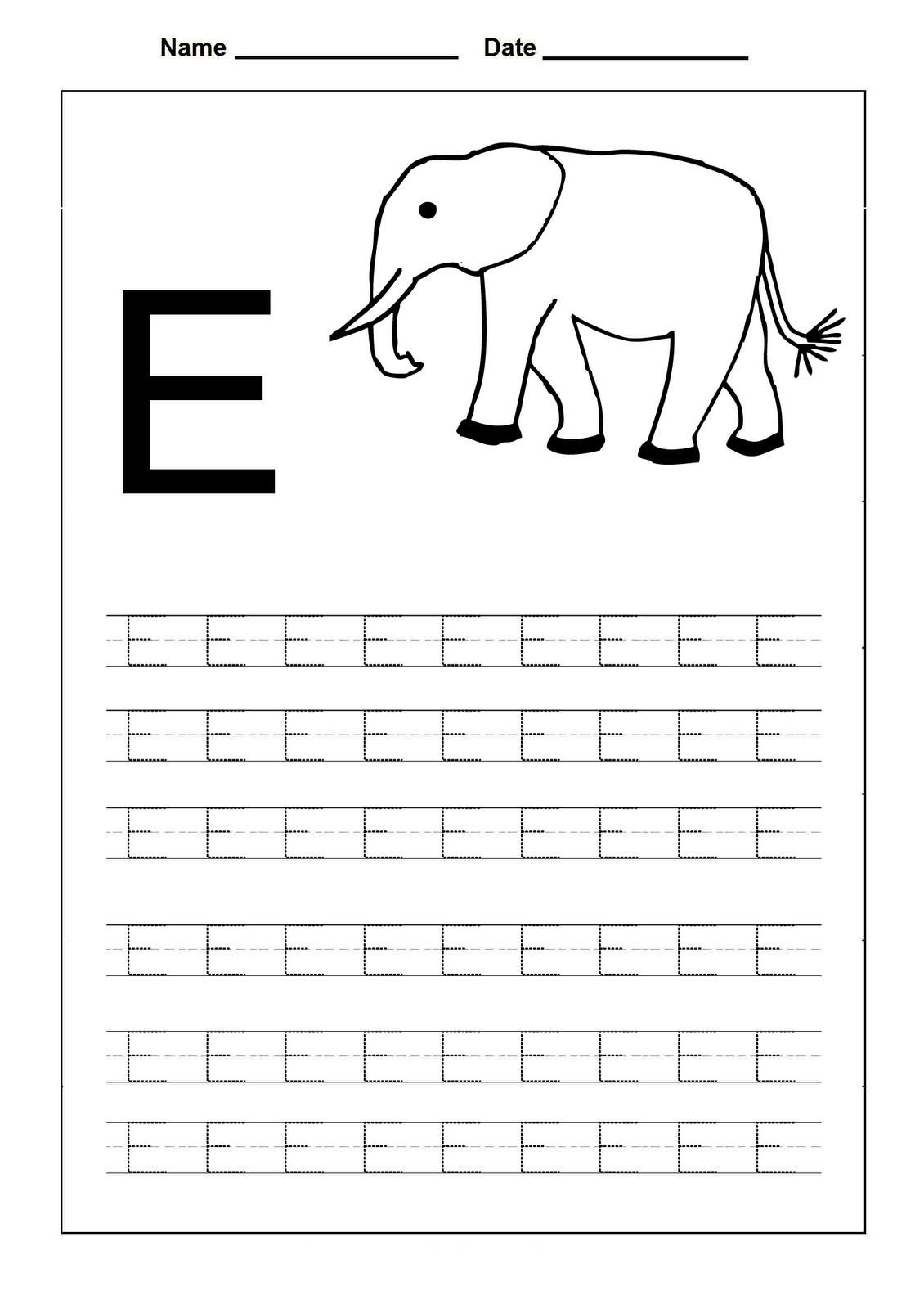 Letter E Worksheets For Preschoolers Preschooler Development – E Worksheets for Kindergarten
