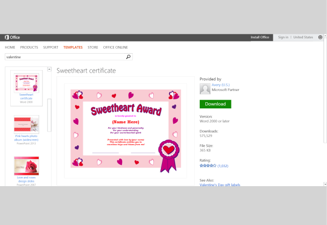 4 Images of Sweetheart Certificate Printable