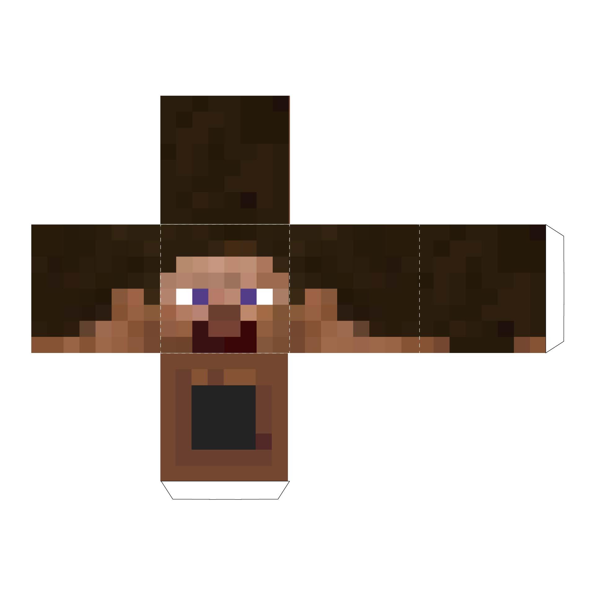 Minecraft Papercraft Steve Head Template