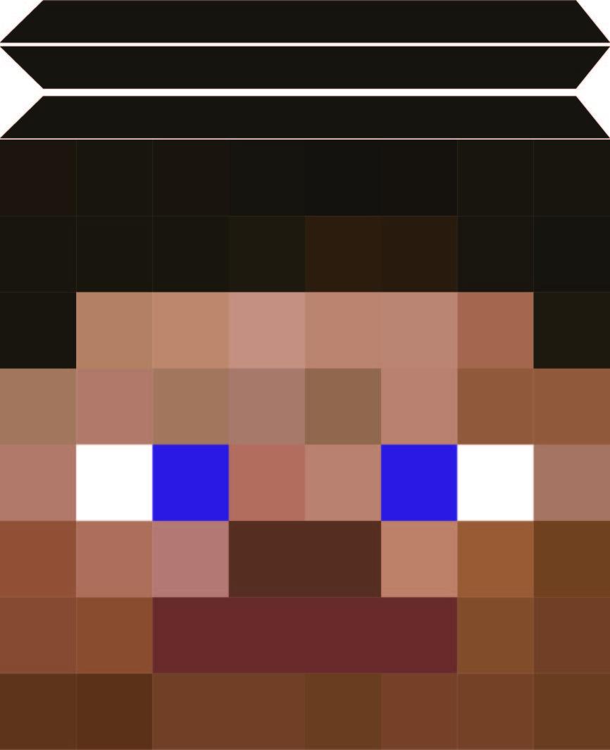 Minecraft Steve Mask Printable