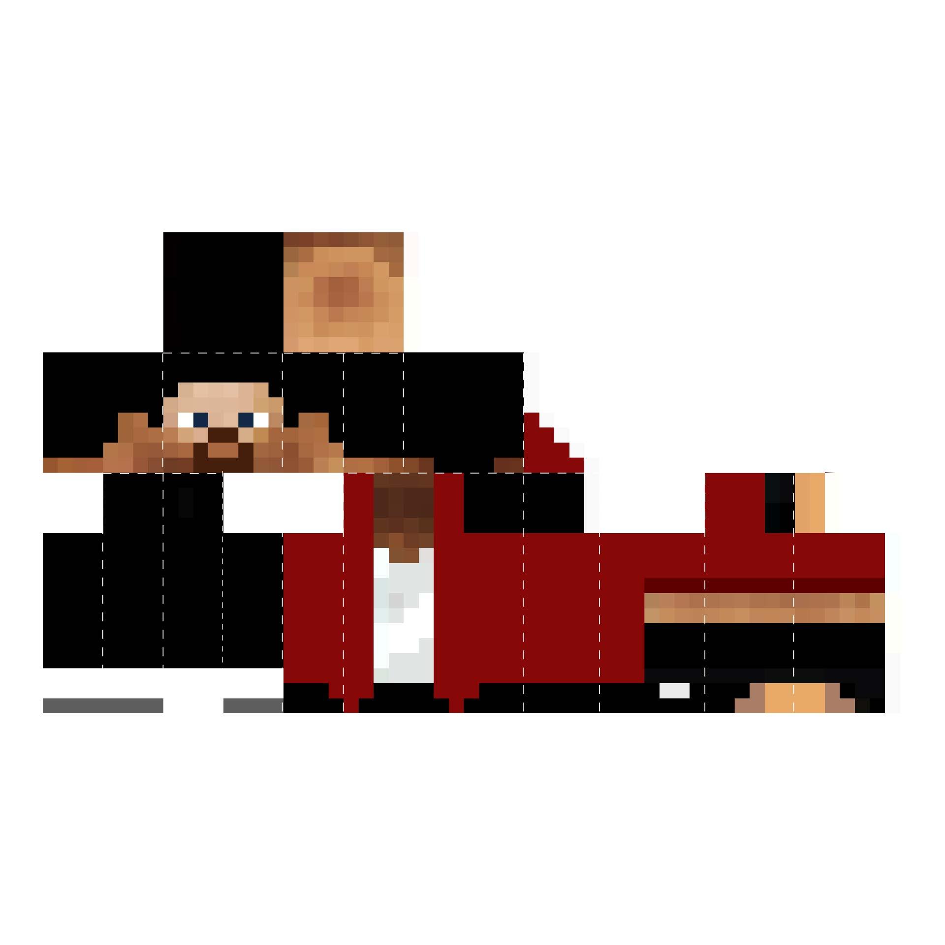Minecraft Steve Papercraft Template