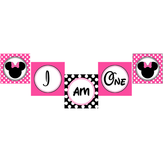 8 Images of Minnie Mouse Banner Printable