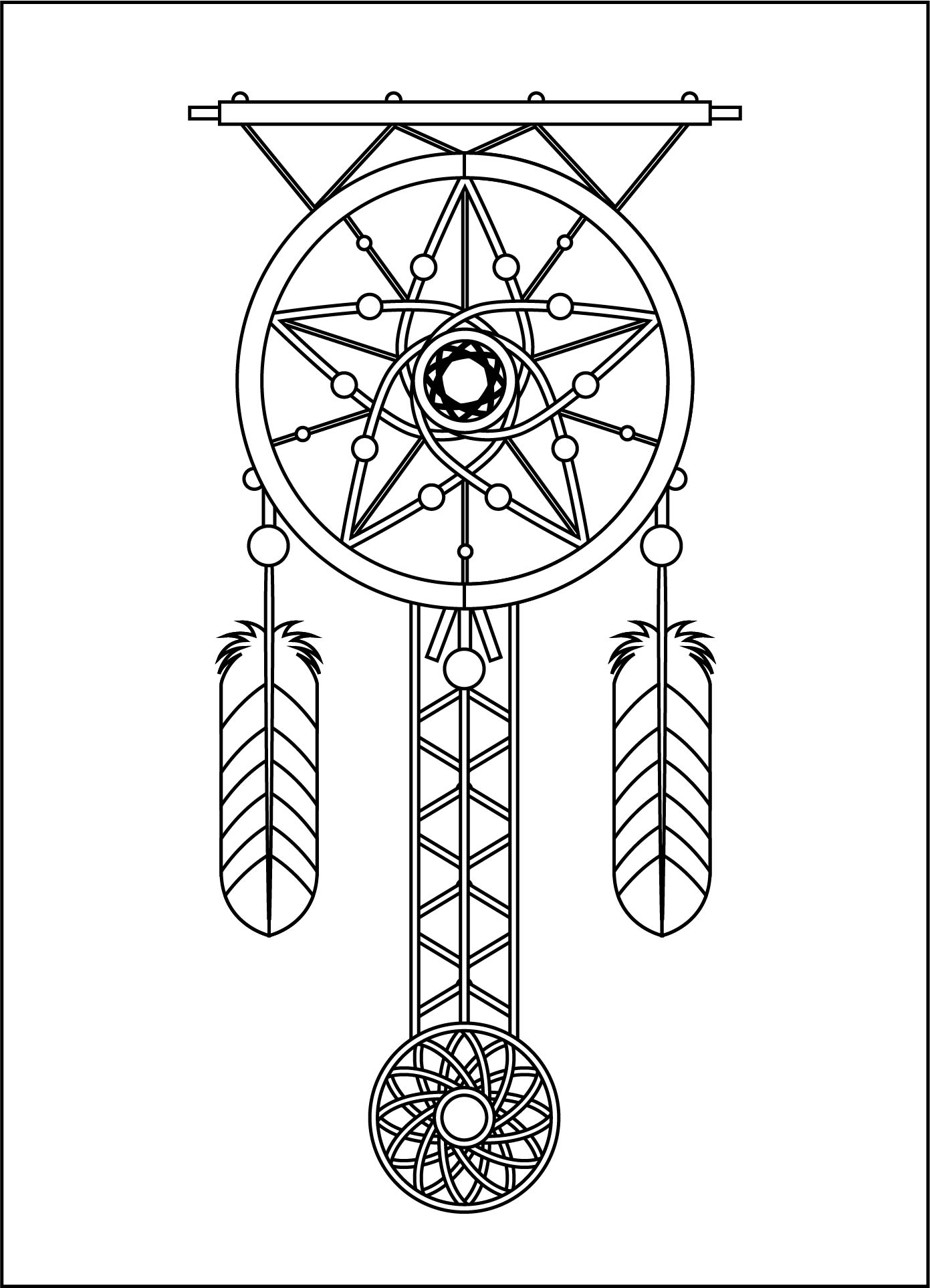 Native American Dream Catcher Coloring Pages