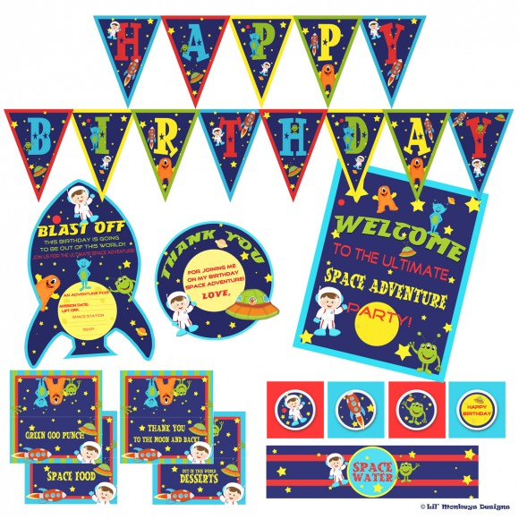 Outer Space Party Printables Free