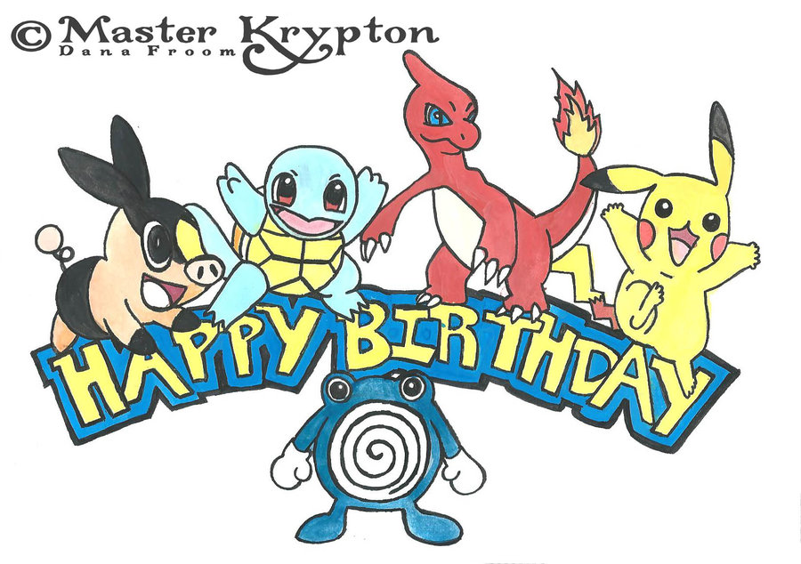 6 Images of Pokemon Birthday Printables