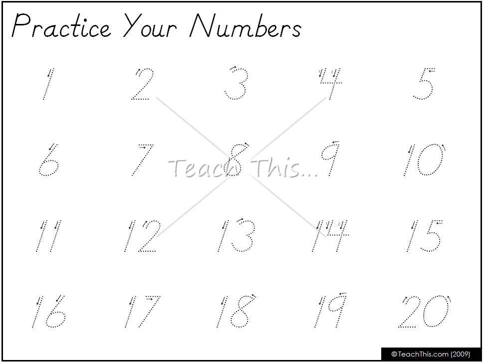 Numbers 1 20 Writing Worksheets Worksheet Kids – Numbers 1-20 Worksheets for Kindergarten