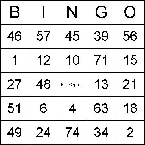 9 Images of Printable Bingo Games