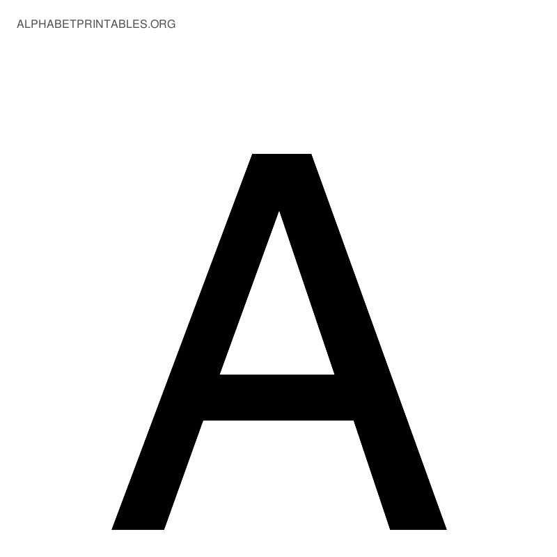 alphabet letter a wwwimgkidcom the image kid has it With black alphabet letters