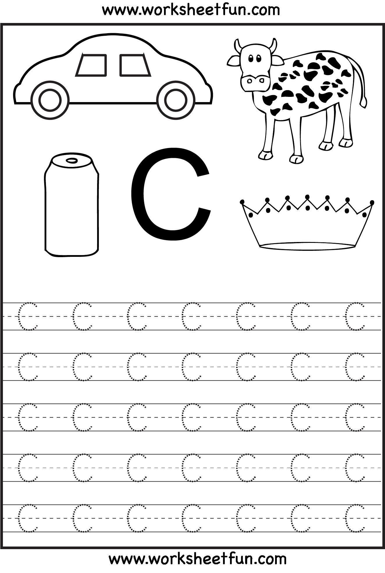 Letter Tracing Pages For Preschoolers Preschooler Development – Tracing the Alphabet Worksheets for Kindergarten