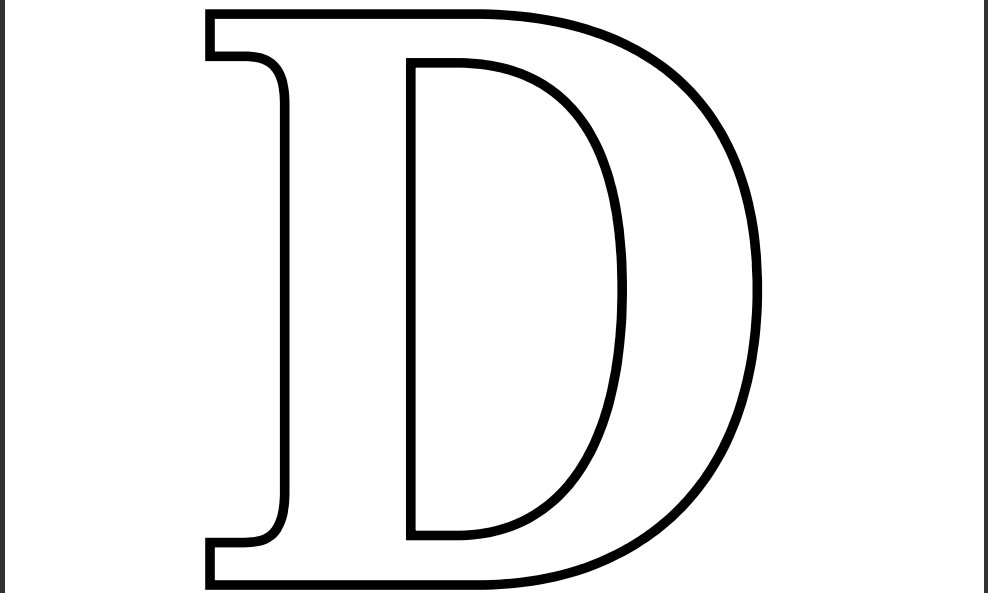 Printable Letter D Coloring Page