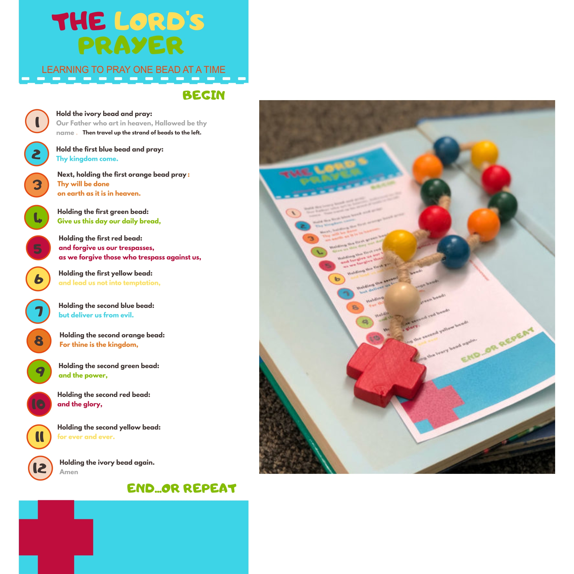 8 Images of Printable Lord's Prayer Craft