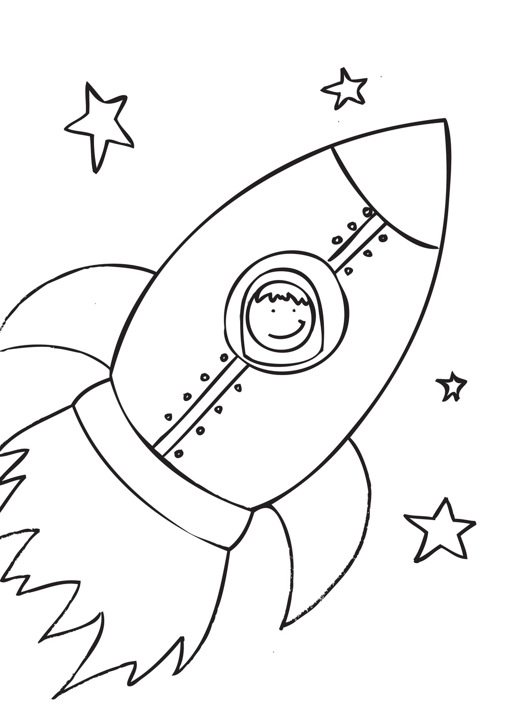 6 Images of Free Printable Rocket Ship Coloring Page