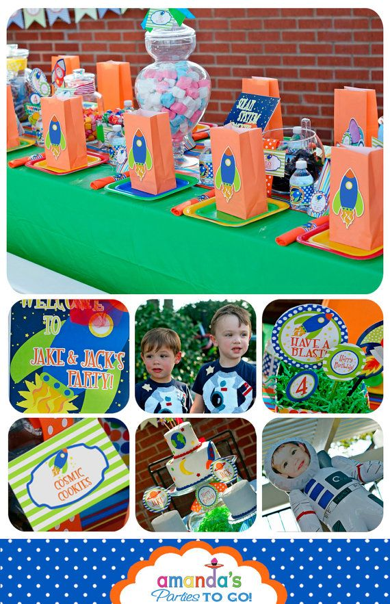 Rocket Birthday Party Printables