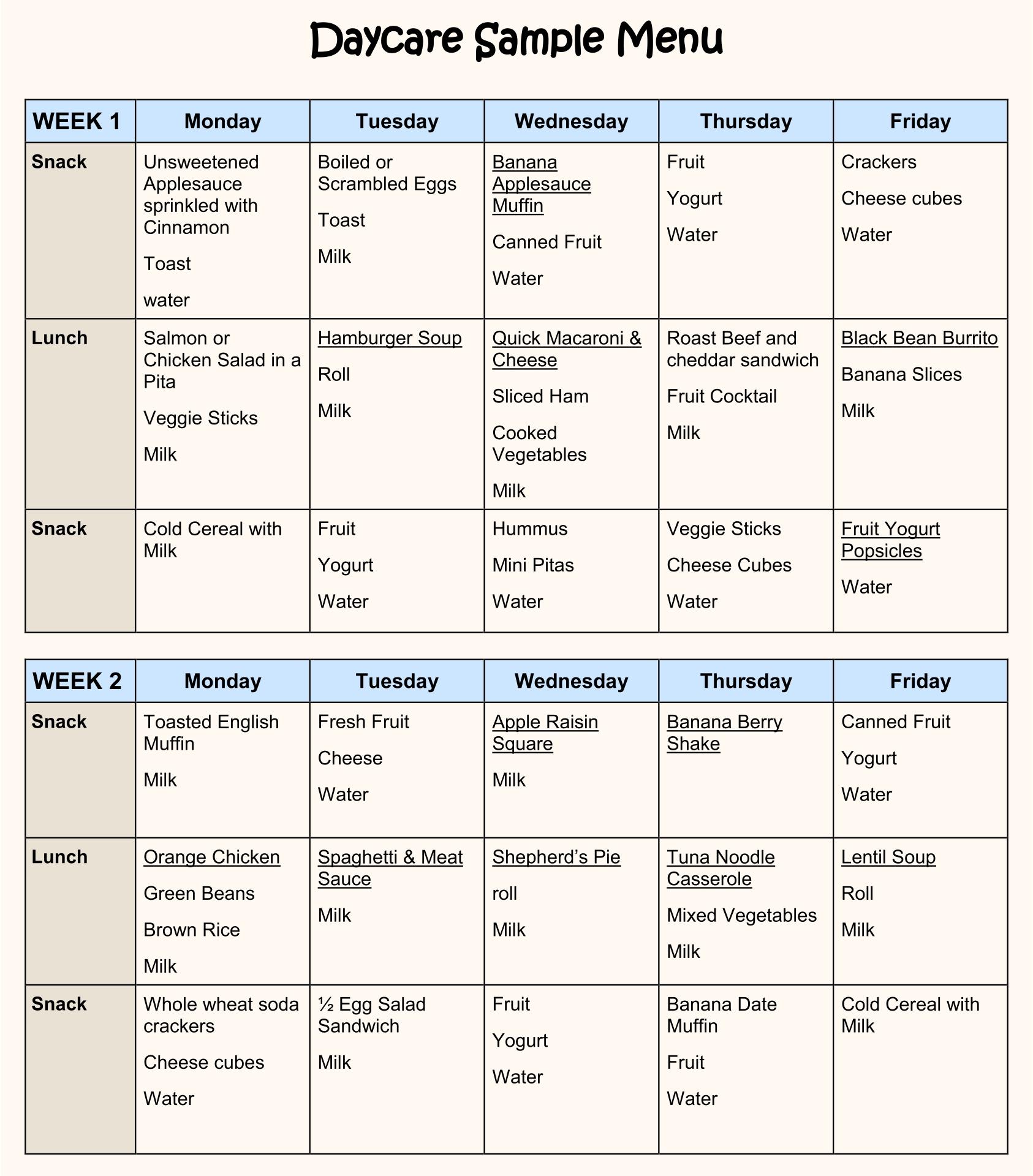 6 best images of printable sample day care menu food discharge planning in nursing homes house design ideas