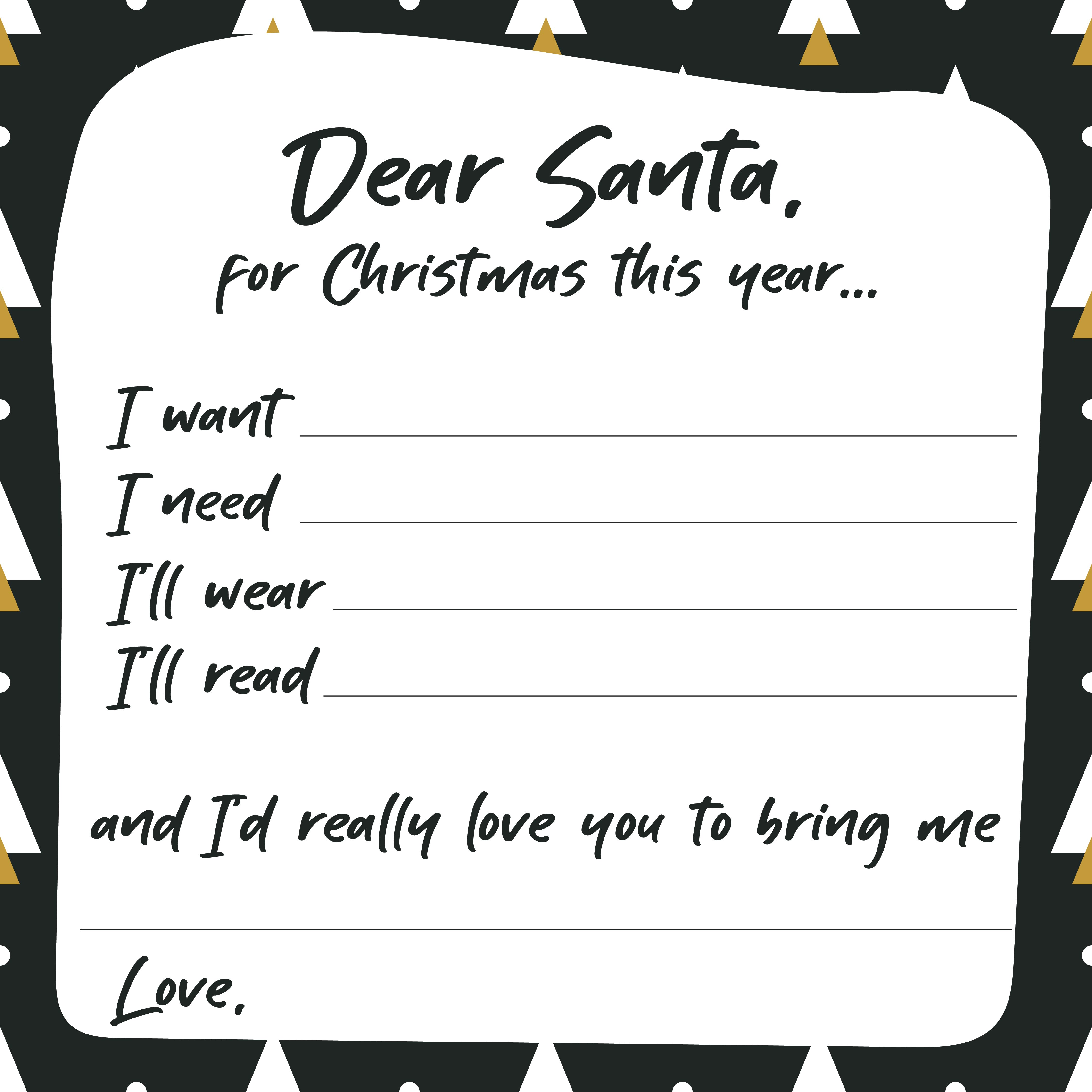 7 Images of Printable Christmas Wish List Ideas