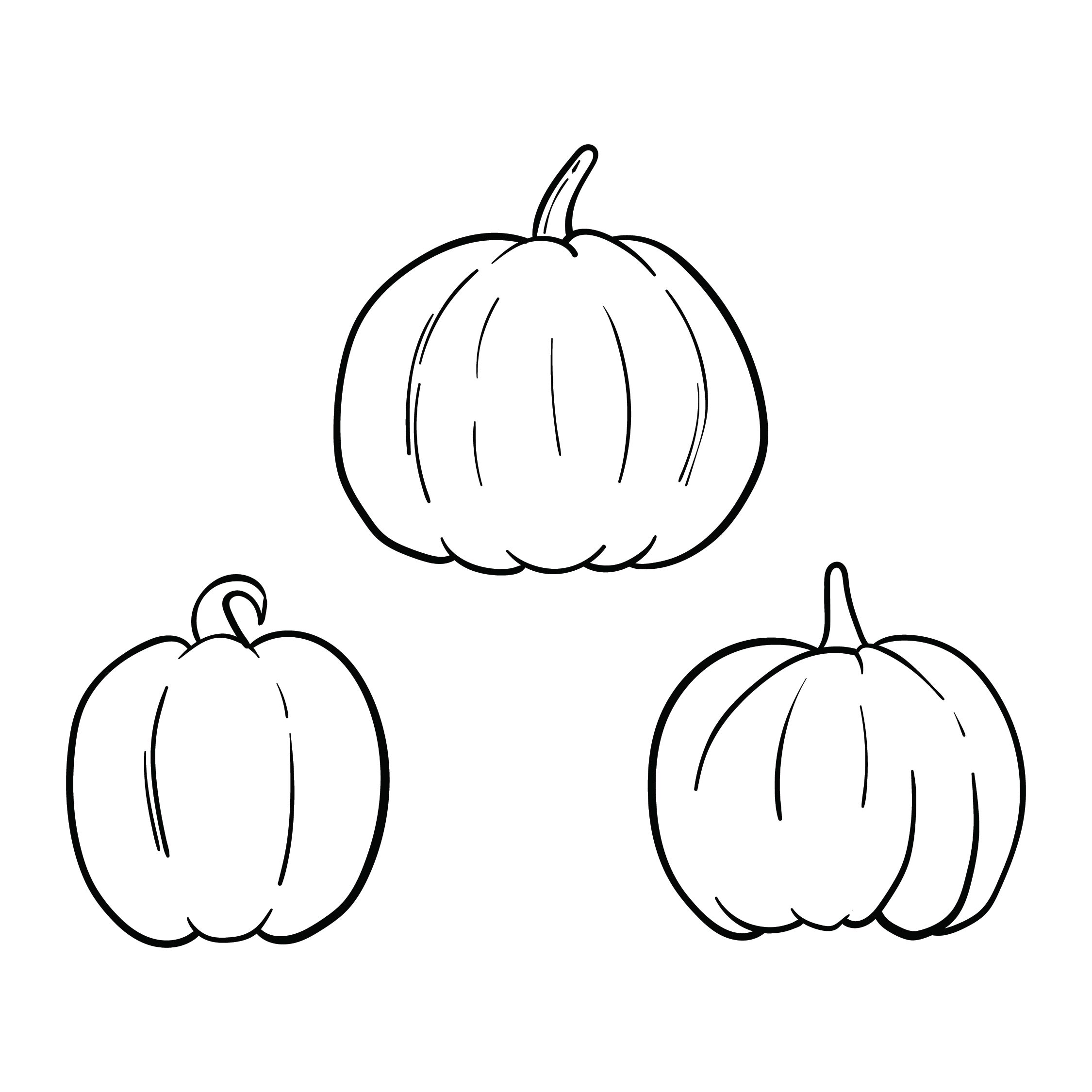 Small Halloween Pumpkin Templates