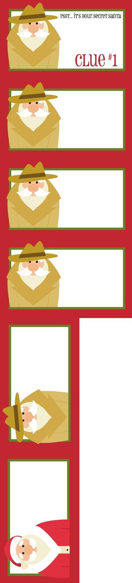 7 best images of secret santa gift tags free printable for Secret santa craft ideas