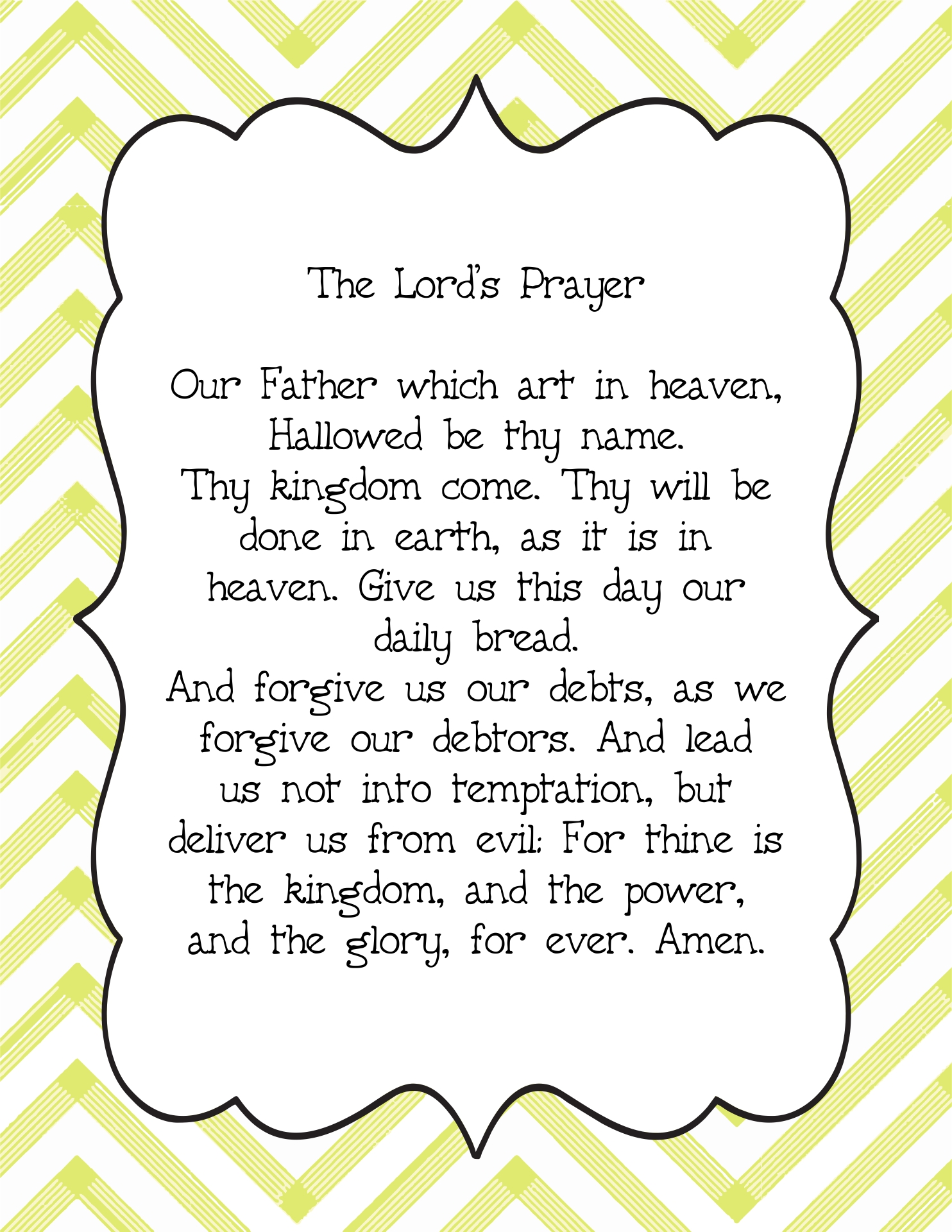 8 Best Images Of Printable Lords Prayer Craft