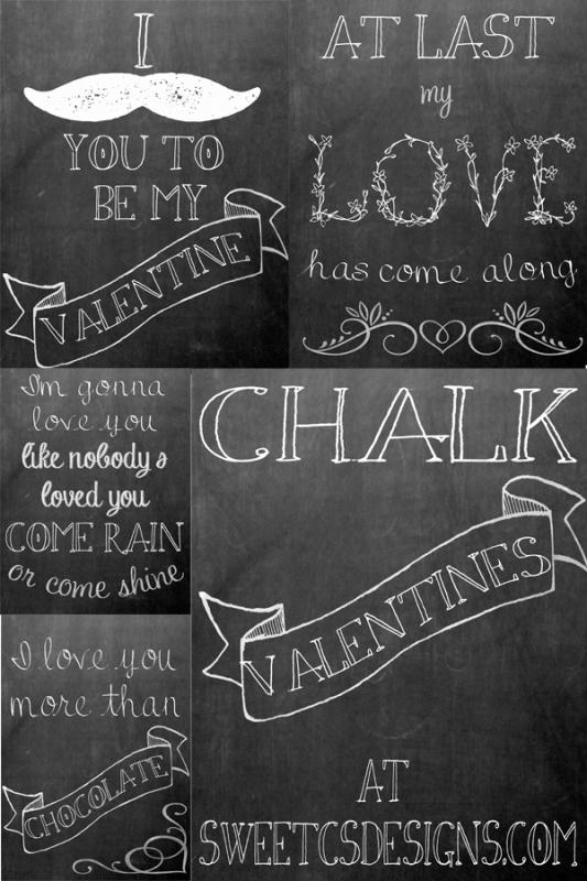 Valentine's Chalkboard Printables Free