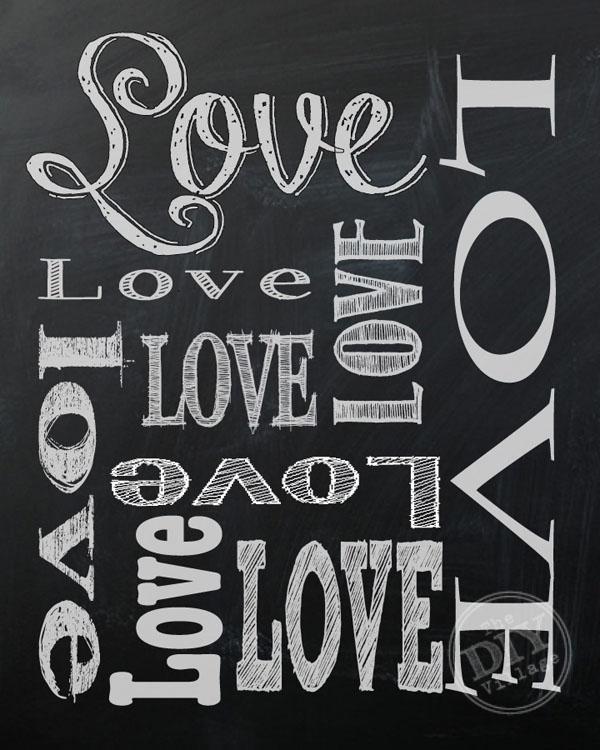 Valentine's Day Chalkboard Printable