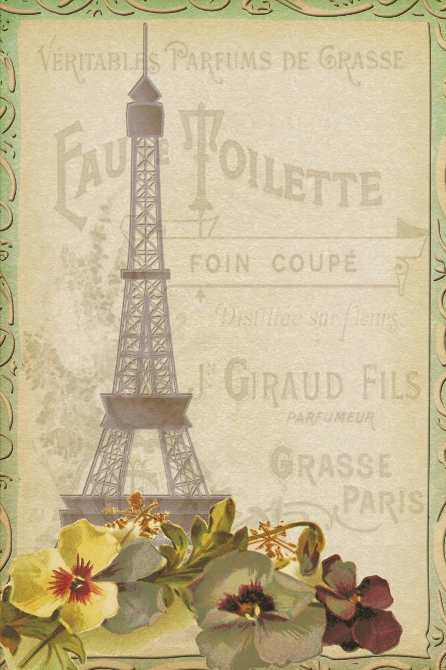 9 Images of Paris Free Vintage Printables