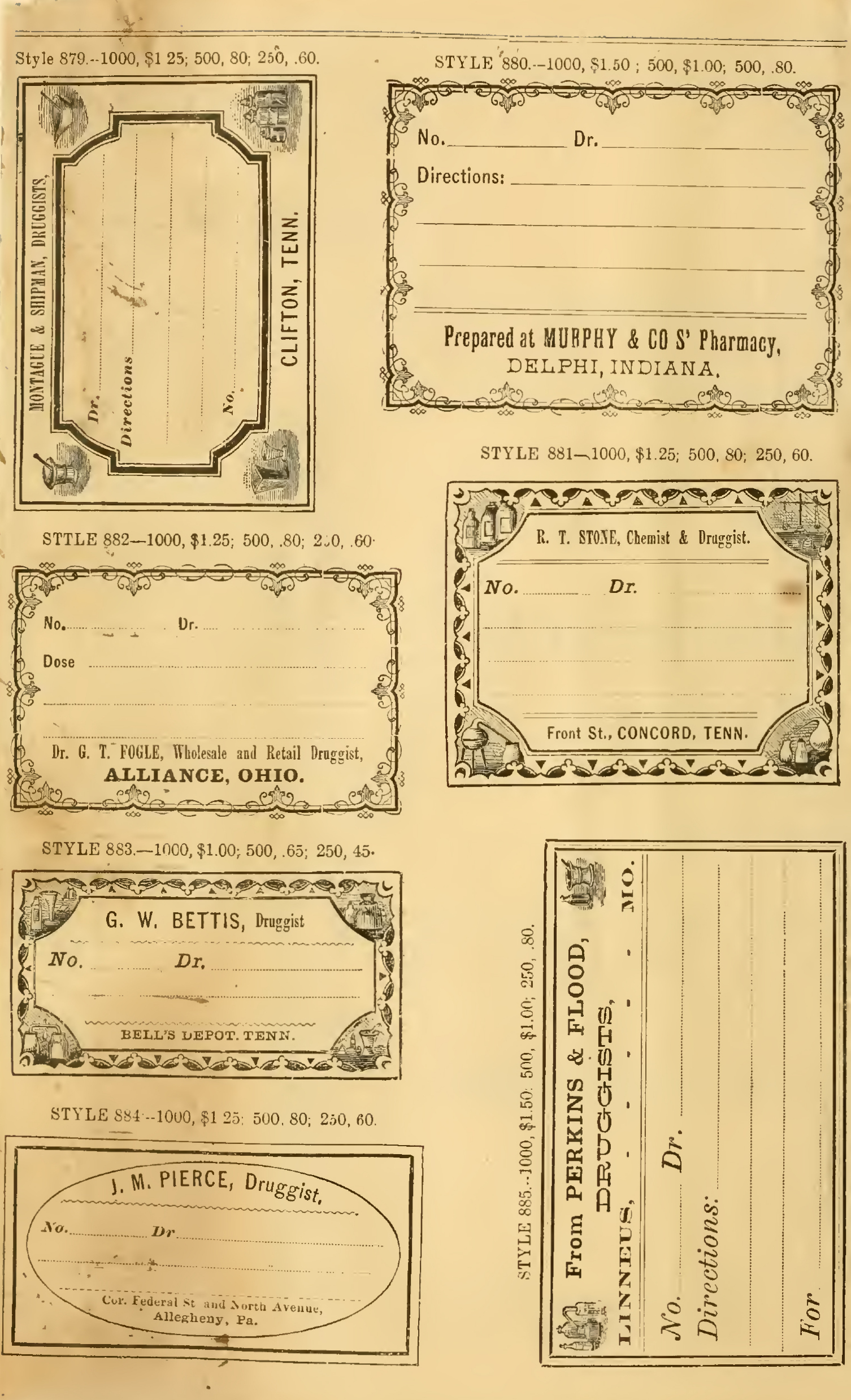 Vintage Pharmacy Labels Printable Free