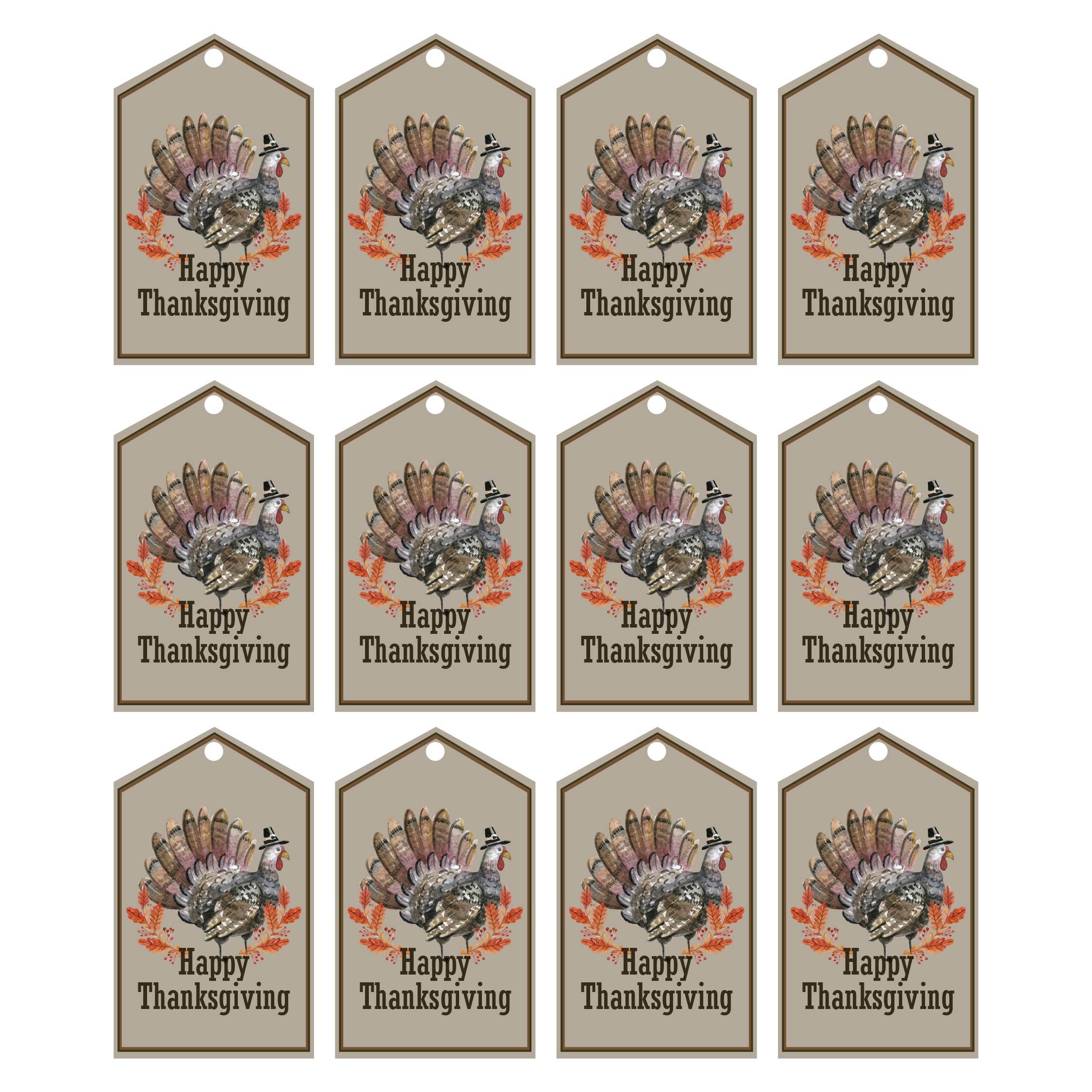 Vintage Thanksgiving Gift Tags Printable