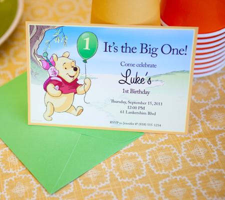 Baby 1st Birthday Invitations Printable