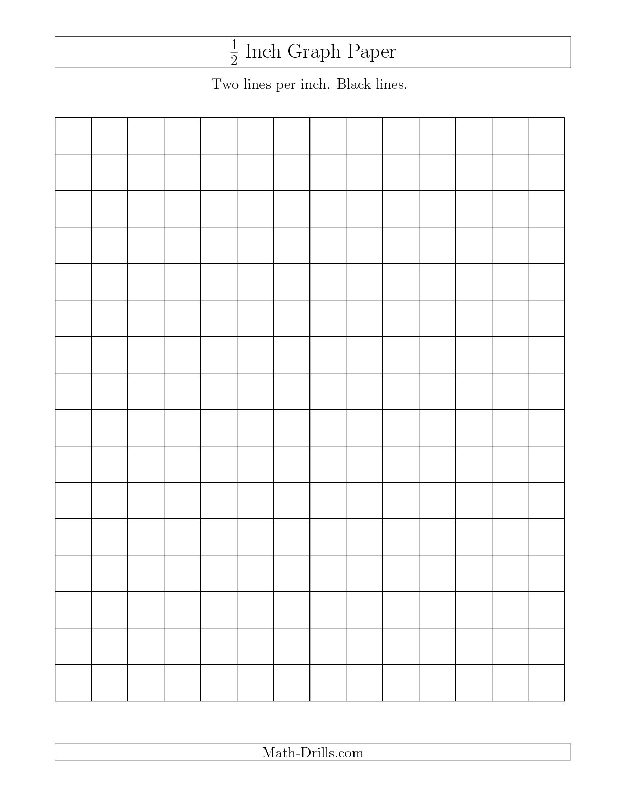 7 Images of Printable 1 2 Inch Grid Graph Paper